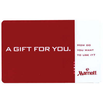 MARRIOTT<sup>&reg;</sup> $100 Gift Card - Enjoy a host of services from accommodations to dining or merchandise from ShopMarriott.com with this $100 gift card.