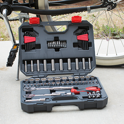 CRESCENT<sup>&reg;</sup> 84 Piece Professional Tool Set - This 84 piece mechanics tool set features a 72 tooth ratchet with a 5 degree swing, sockets with Surface Drive<sup>&reg;</sup> technology which virtually eliminates fastener rounding and a magnetic bit driver with dual material grip for increased leverage.